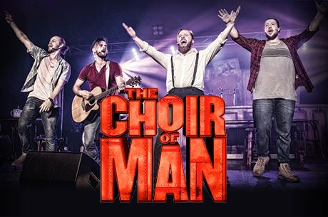 Choir Of Man performance with singers on stage