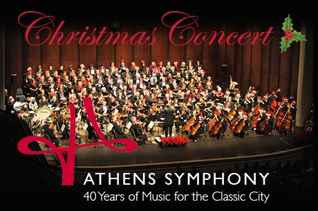 Athens Symphony Christmas Performance on Stage