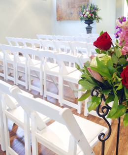 Wedding Chairs in a Row